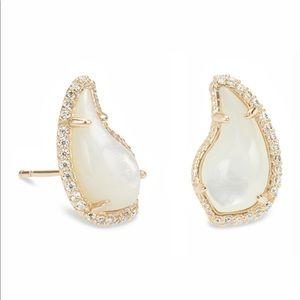 Kendra Scott 14k Gold Plate CZ Teardrop Earrings
